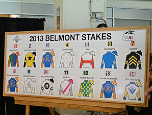 BelmontStakes2013PostPositionDraw